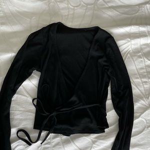 FOREVER 21 Black Wrap Top